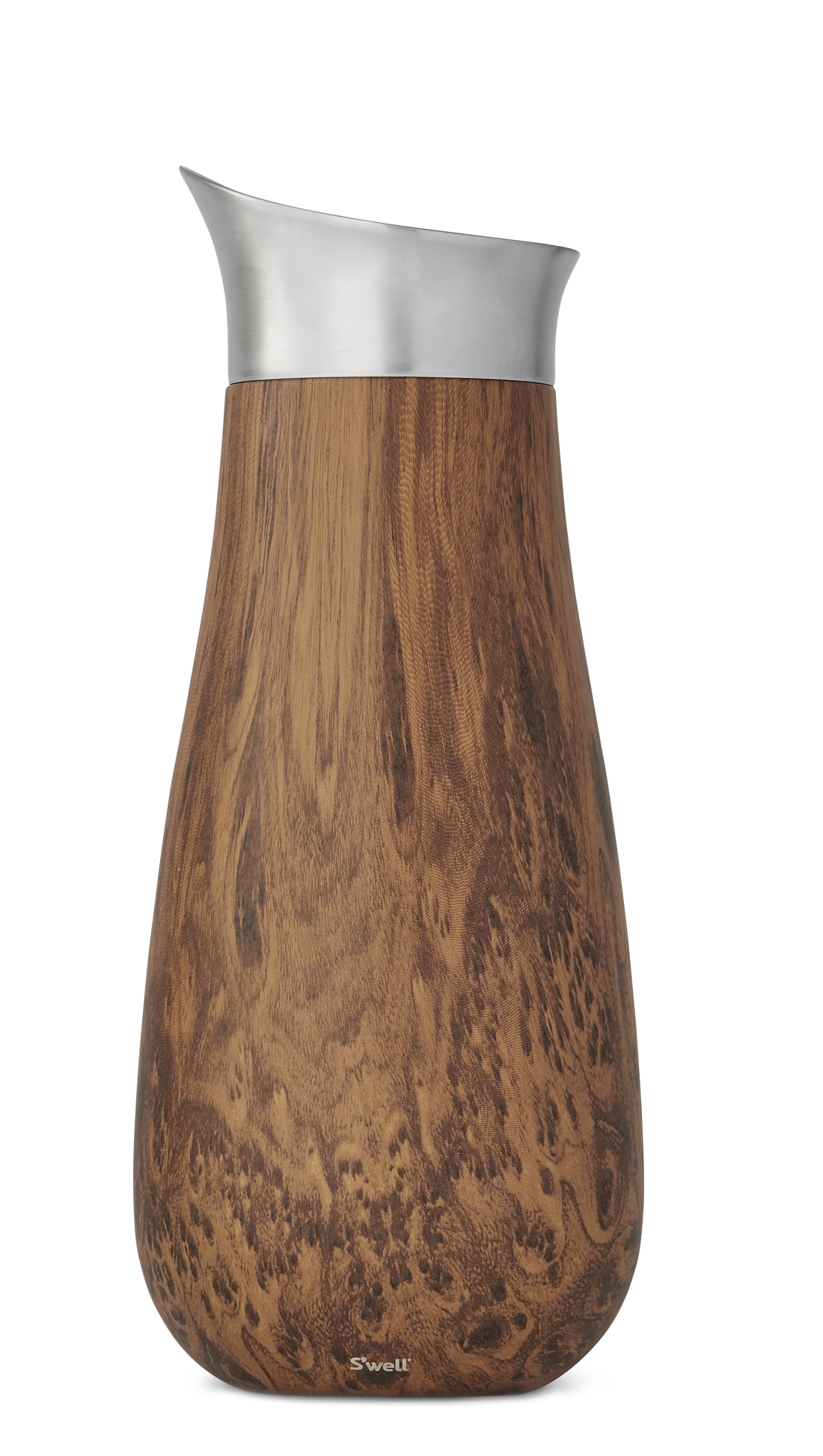 A Carafe That Is A Blind Glass teakwood carafe