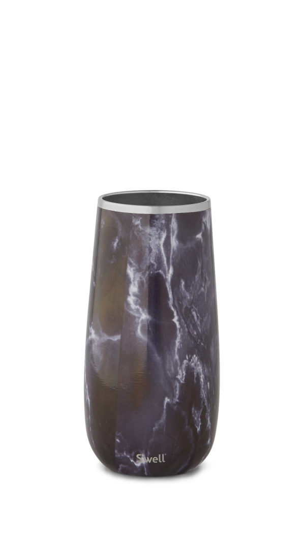 Black Marble Champagne Flute