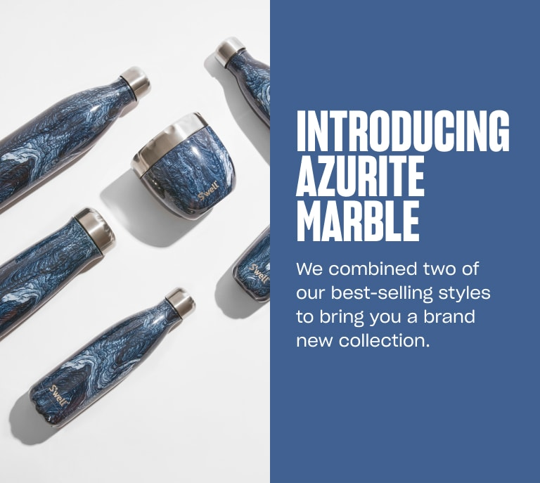 S'well Home Banner 3: Introducing Azurite Marble