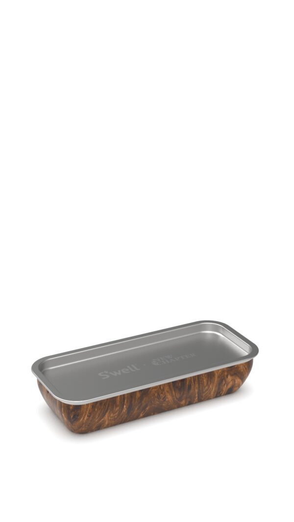S'well x New Chapter Teakwood Vitamin Case